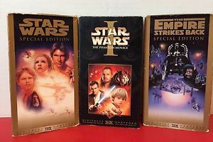 Lot Of 3 Vintage Star Wars VHS Movies