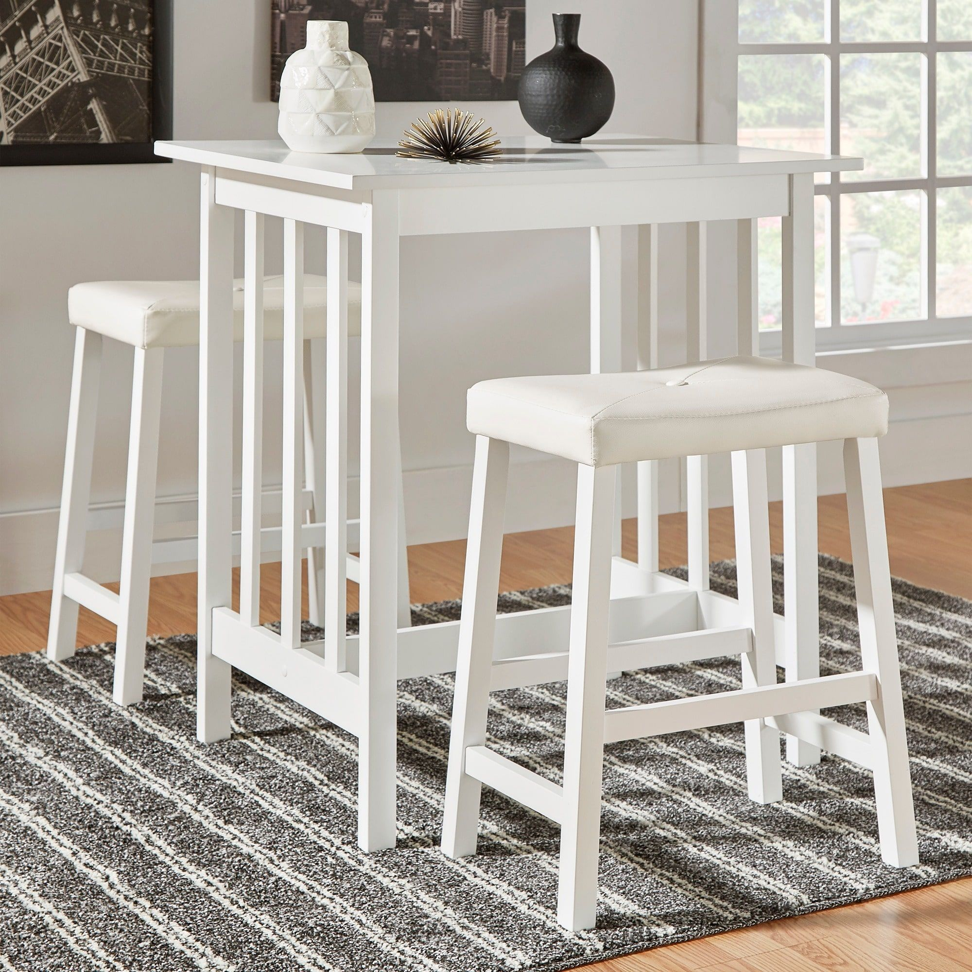 Nova 3-piece Kitchen Counter Height Dinette Set by iNSPIRE Q Classic by  iNSPIRE Q