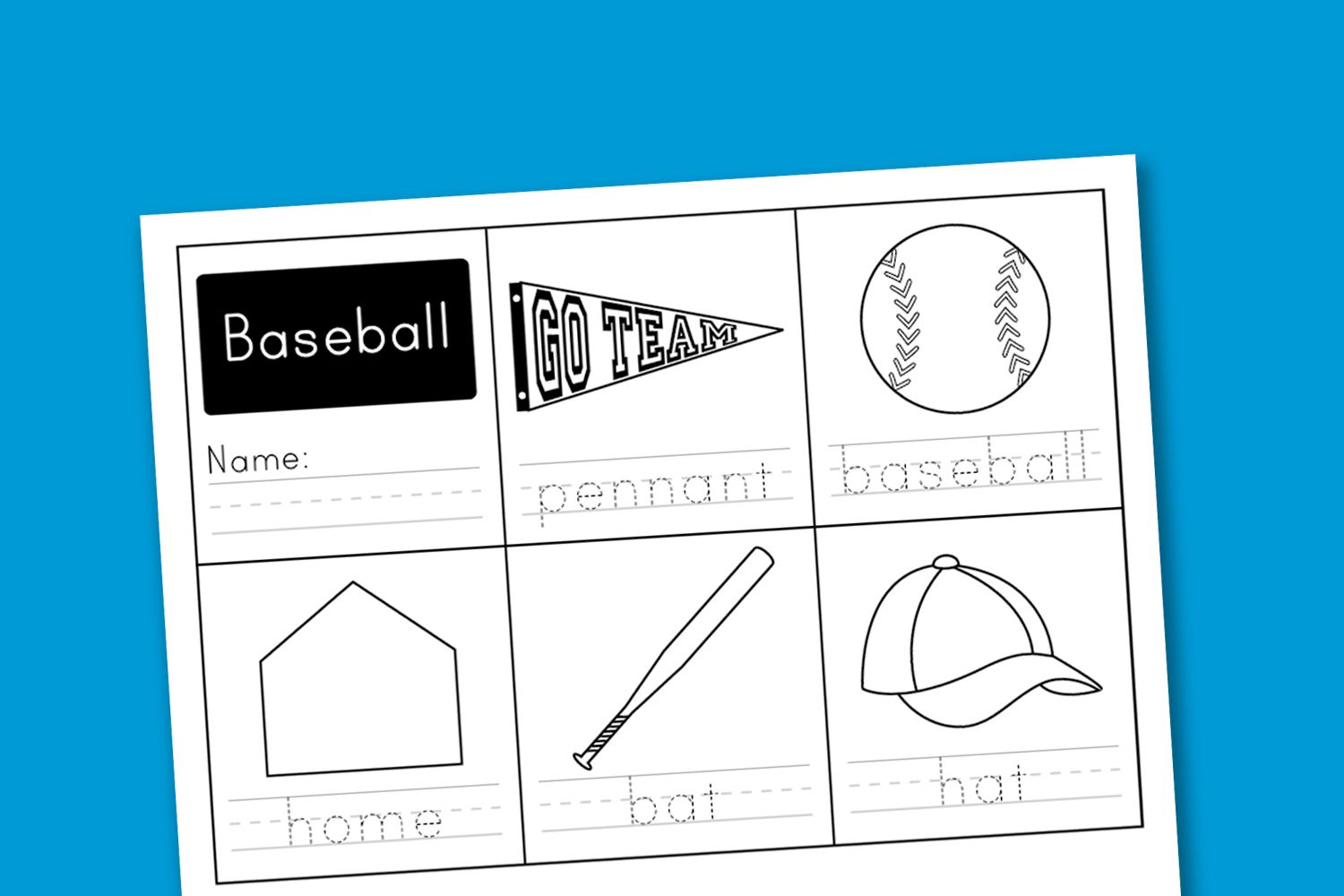 Worksheet Wednesday Baseball Handwriting