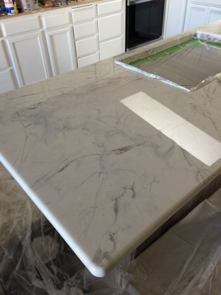 White Marble Epoxy Countertops Can T Believe It S Particle Board