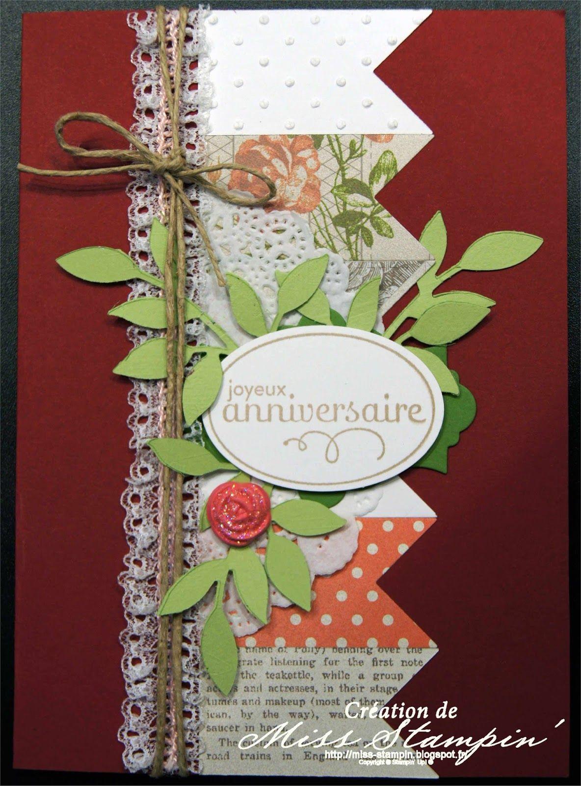carte anniversaire cartes brod es pinterest carte anniversaire anniversaires et cartes. Black Bedroom Furniture Sets. Home Design Ideas