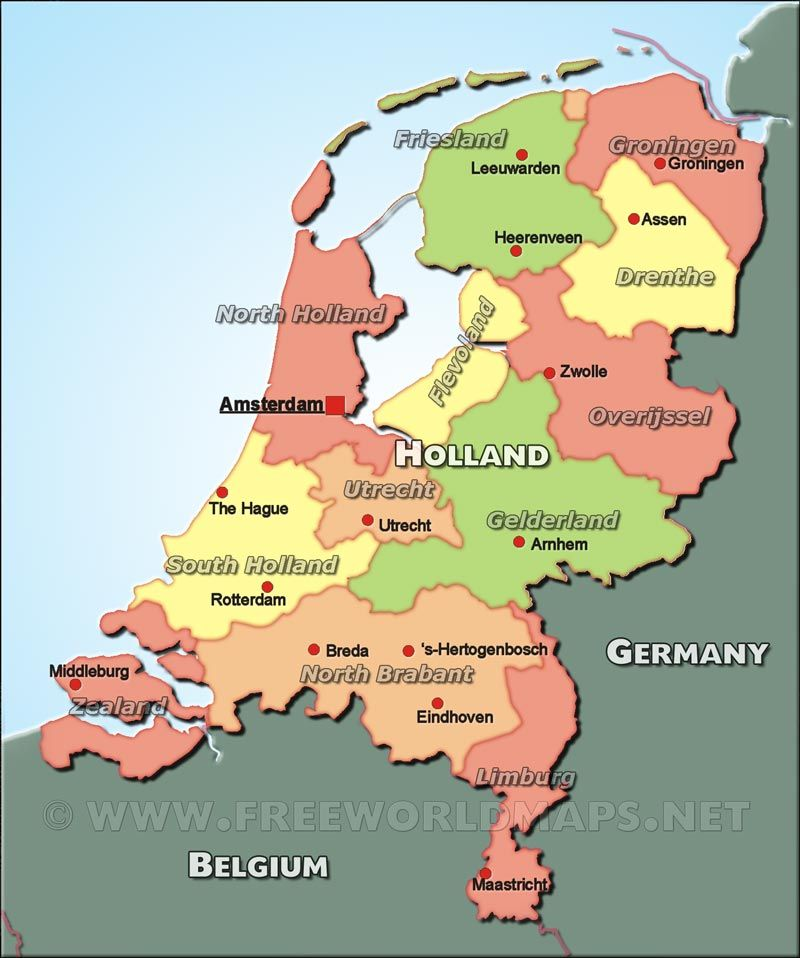 map of Holland from North Brabant divided similarly to our