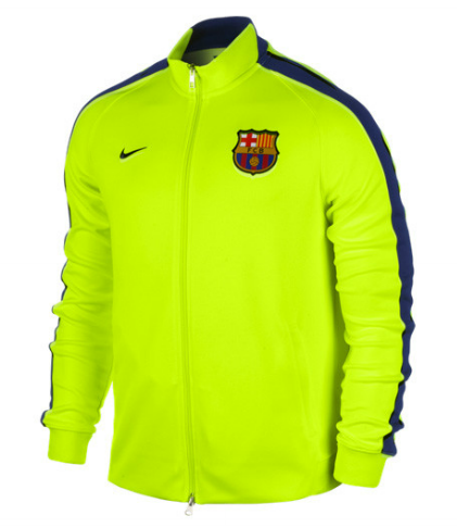 c9b9ec3f7bc2d BARCELONA AUTHENTIC N98 JACKET YELLOW FC Barcelona Official Merchandise  Available at www.itsmatchday.com