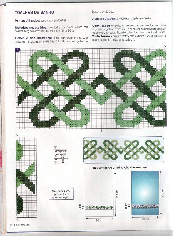ideas toallas para hombres   Punto Cruz   Pinterest   Cross stitch ...