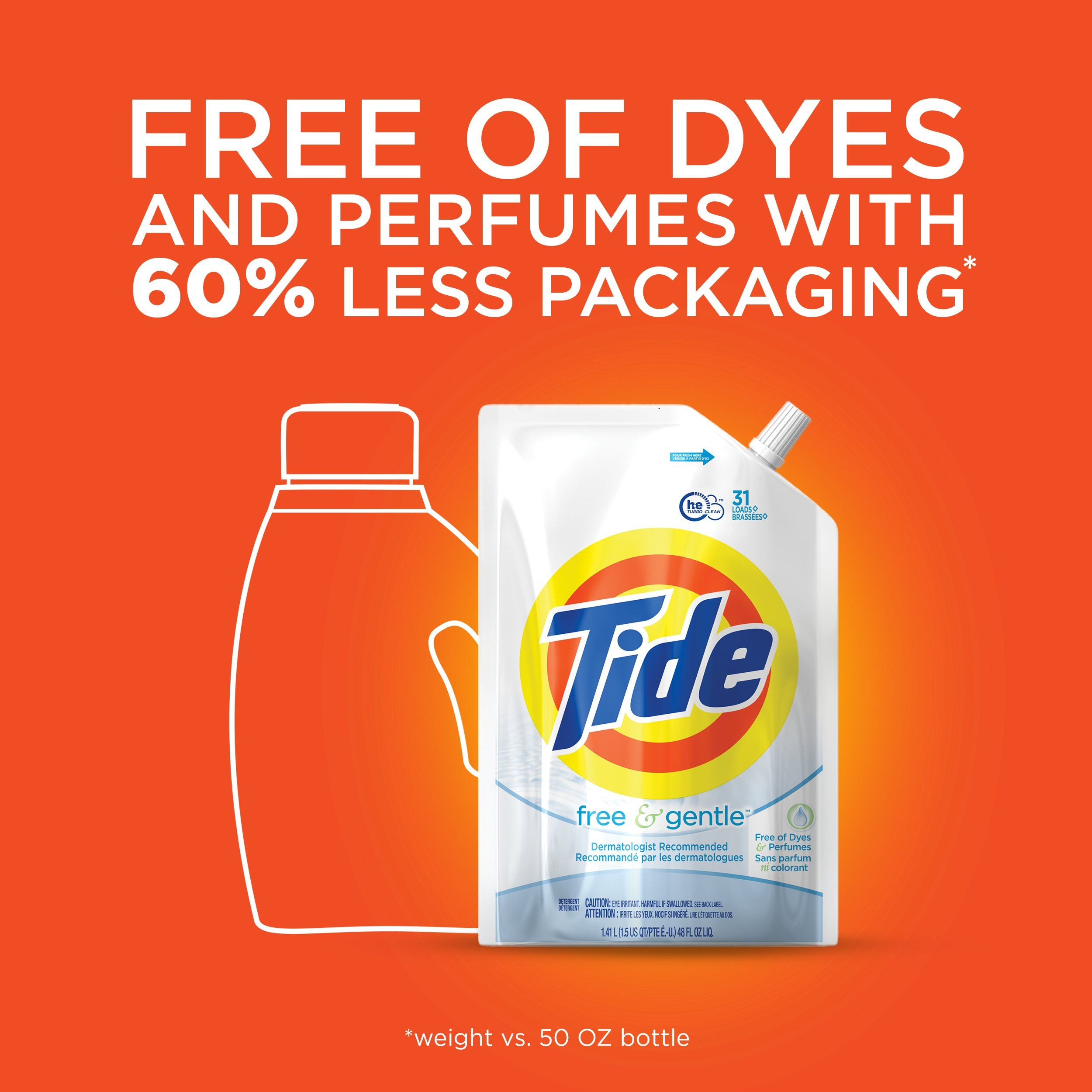 Tide Liquid Laundry Detergent Smart Pouch Free Babydetergent