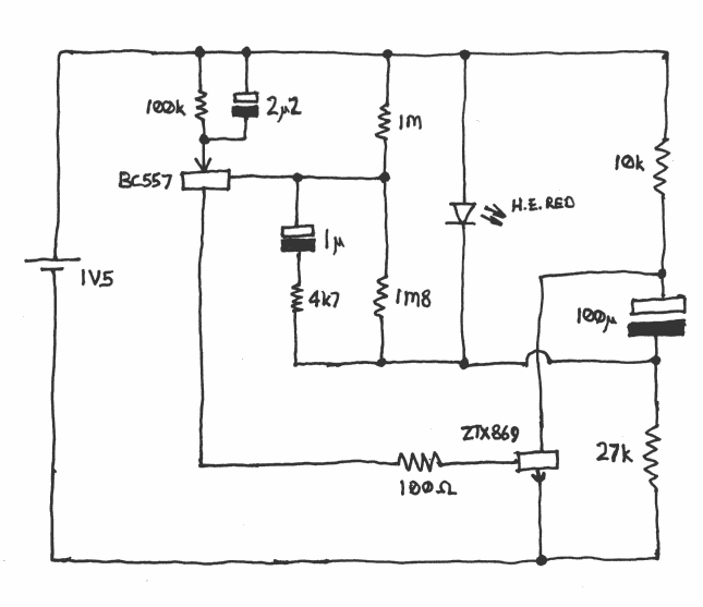 5e78b28ad7e9dce6ea46a56e144fa694 circuit diagram (schematic) of single cell led flasher with two 12v flasher circuit diagram at sewacar.co