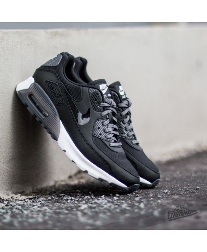 Official Nike Air Max 90 Men's Shoe White Black Gray