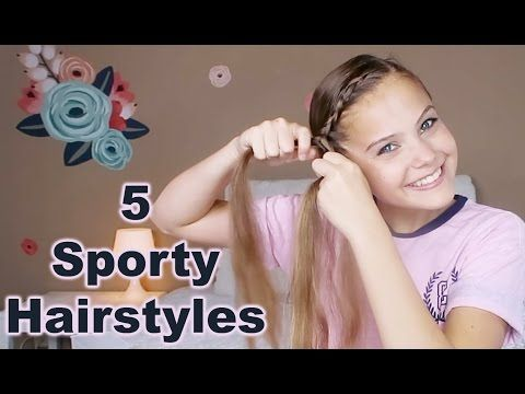 5 Diy Sporty Hairstyles How To Do Your Own Hair Marissa And Brookie Youtube Awesome Ha Sporty Hairstyles Easy Hairstyles For Long Hair Sports Hairstyles