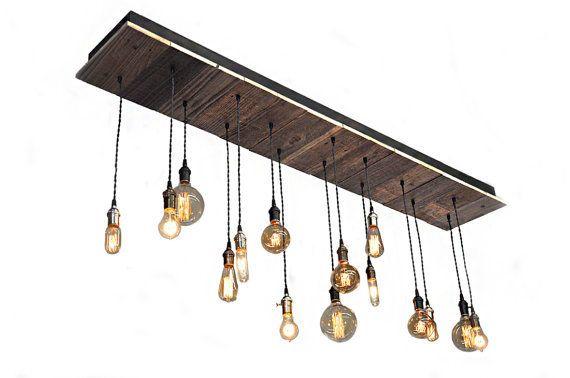 Reclaimed Wood Rustic Chandelier - Nostalgic Lighting, Dining Room - Industrial Lightworks