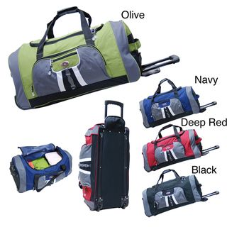 @Overstock - Travel in style with a 31-inch CalPak Hollywood 31 rolling   duffel  Cargo duffel features accessory side zippered pockets  Duffel also features heavy-duty double pole cart systemhttp://www.overstock.com/Luggage-Bags/CalPak-Hollywood-31-inch-Rolling-Upright-Duffel-Bag/3443082/product.html?CID=214117 $39.49