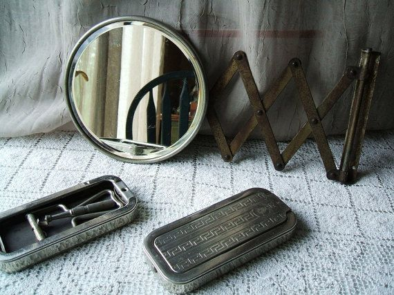 Bathroom Mirror Space Saver Vintage Industrial Barber