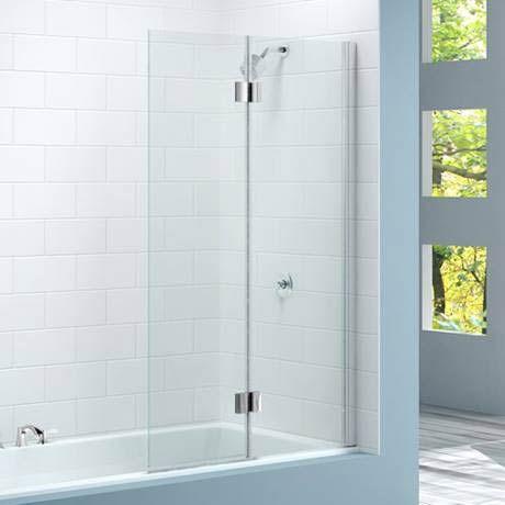 Merlyn Two Panel Hinged Bath Screen 900 X 1500mm Bath Screens Bathtub Design Shower Screen