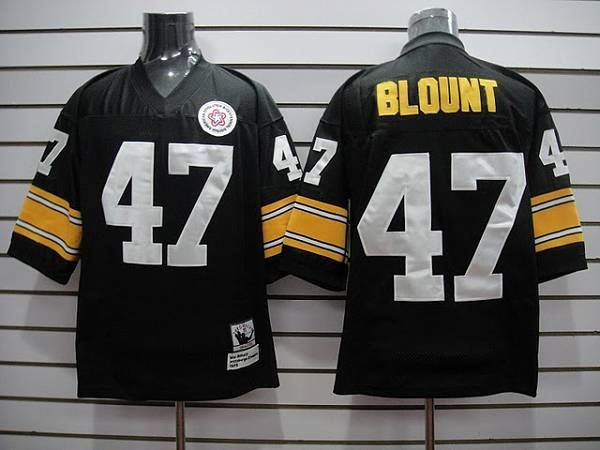 7025cf0abf8 Mitchell & Ness Steelers #47 Mel Blount black Stitched Throwback NFL Jersey  $19.50