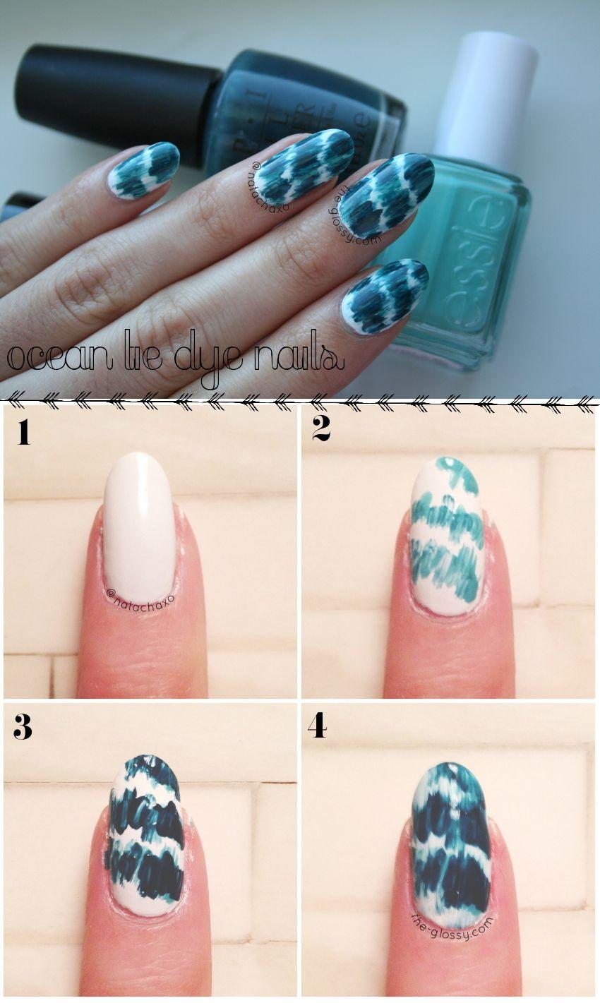 Ocean Tie Dye Nail Art Tutorial In Four Simple Steps Click Through