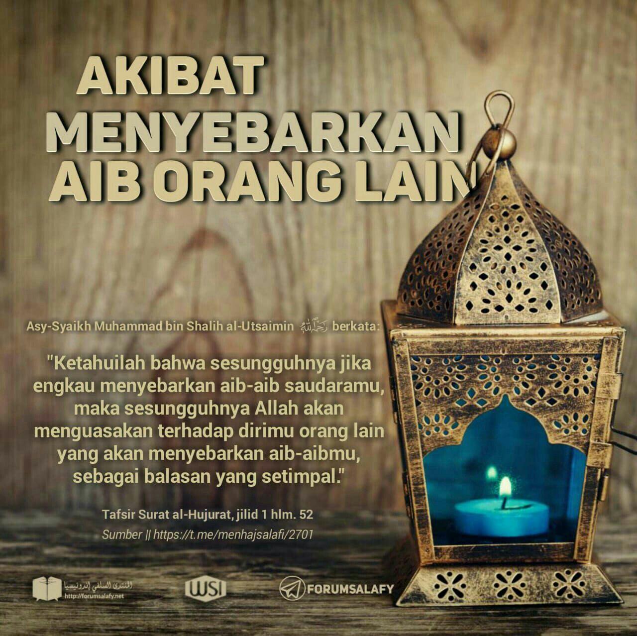 Akibat Menyebarkan Aib Orang Kutipan Agama Kekuatan Doa