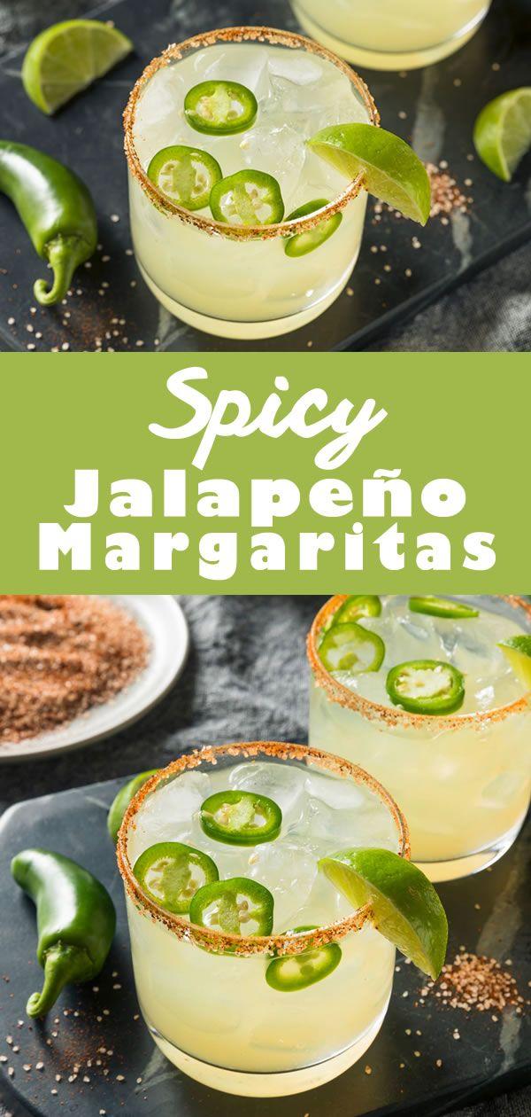 Spicy Jalapeno Margarita #cocktaildrinks