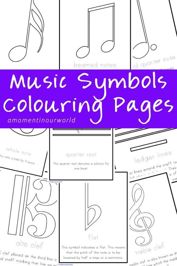 Music Symbols Colouring Pages Posters Pinterest Music Symbols