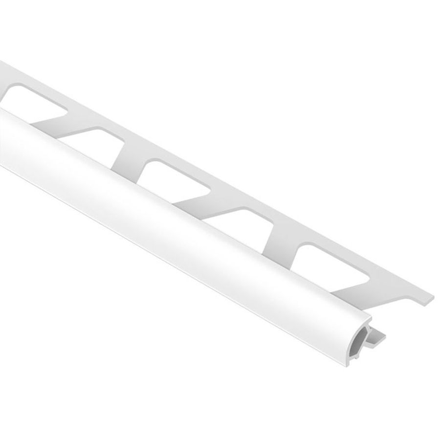Schluter Systems Rondec 0 375 In W X 98 5 In L Bright White Pvc Tile Edge Trim Tile Edge Trim Tile Edge Bullnose Tile