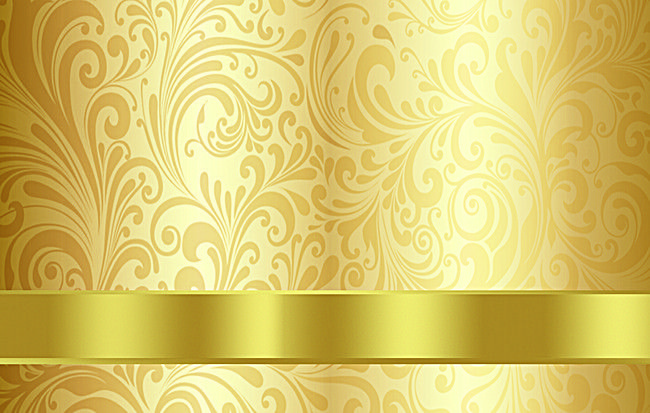 Gold Luxury Seamless Pattern Wallpaper Floral background ...