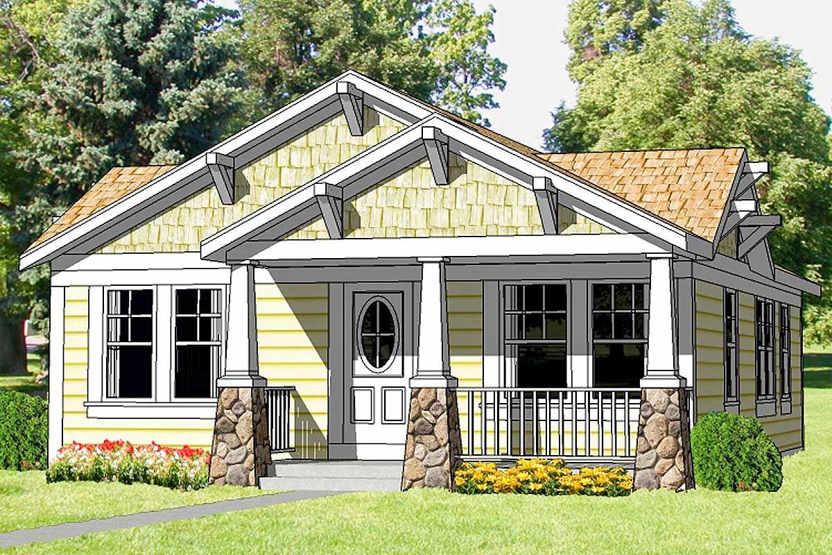 Plan 12727ma Craftsman Starter Home Craftsman Bungalow House Plans Craftsman House Plans Craftsman Style House Plans