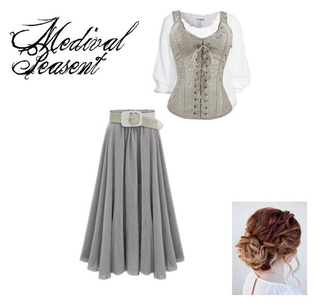 Medival Peasent by alexinalockie on Polyvore featuring women's clothing, women's fashion, women, female, woman, misses and juniors