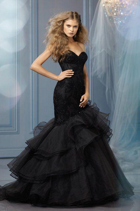 70332ef5ed8 Black Wedding Dresses  Ghoulish or Glamorous