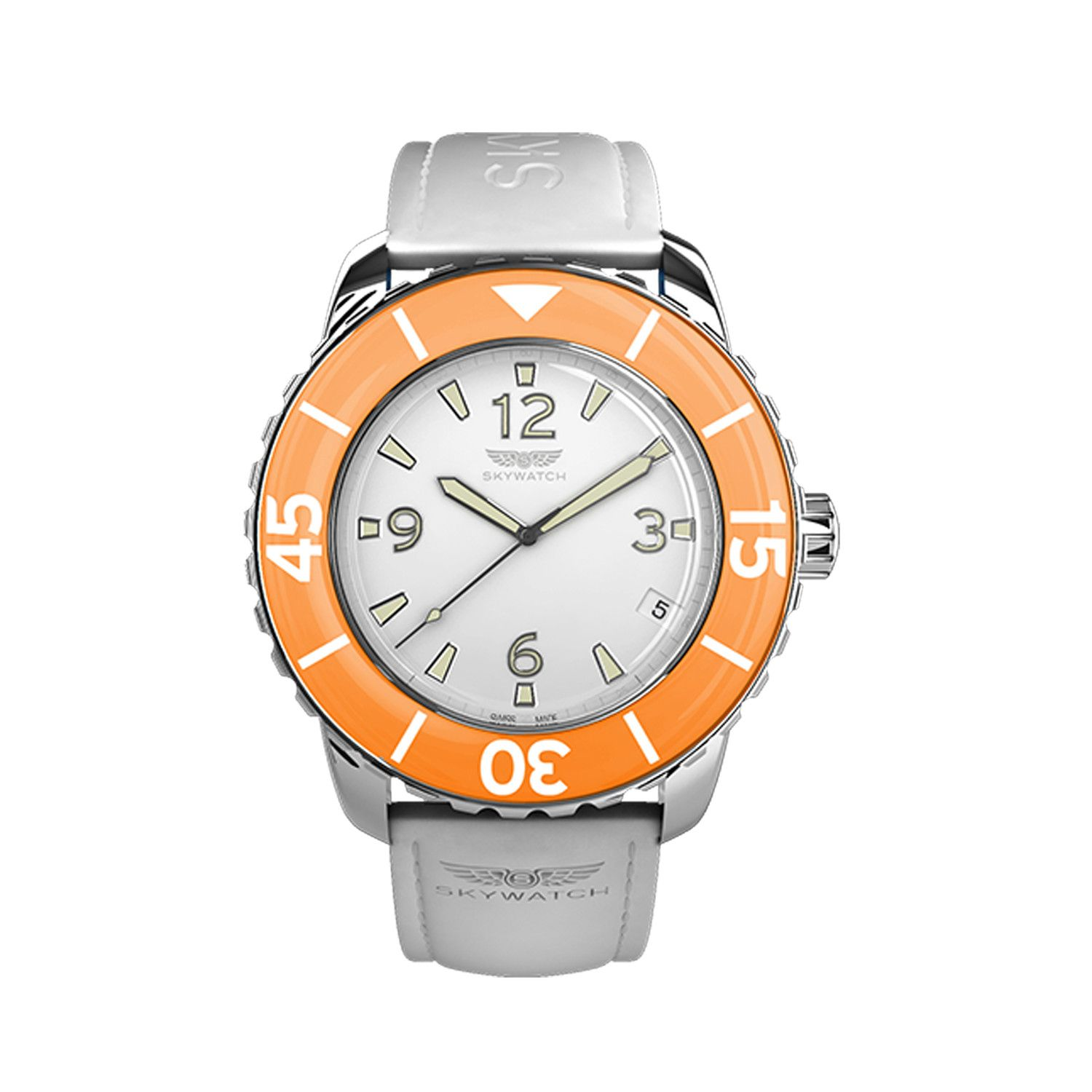 A white and orange watch!? I'm obsessed! Chris would love this