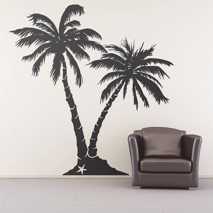 Palm Tree Beach Wall Sticker By Oakdene Designs