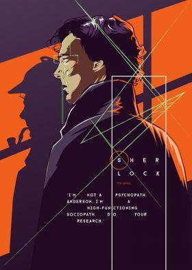 Sherlock – Tv series by Fourteen Lab   metal posters