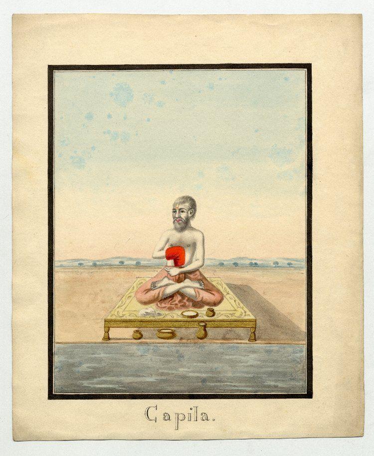 The Great Vedic Sage And Yogi Kapila He Is Credited As One Of The Founders Of The Samkhya School Of Philosophy H Hindu Philosophy Indian Saints Yoga Sanskrit