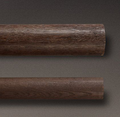 estate weathered oak drapery hardware