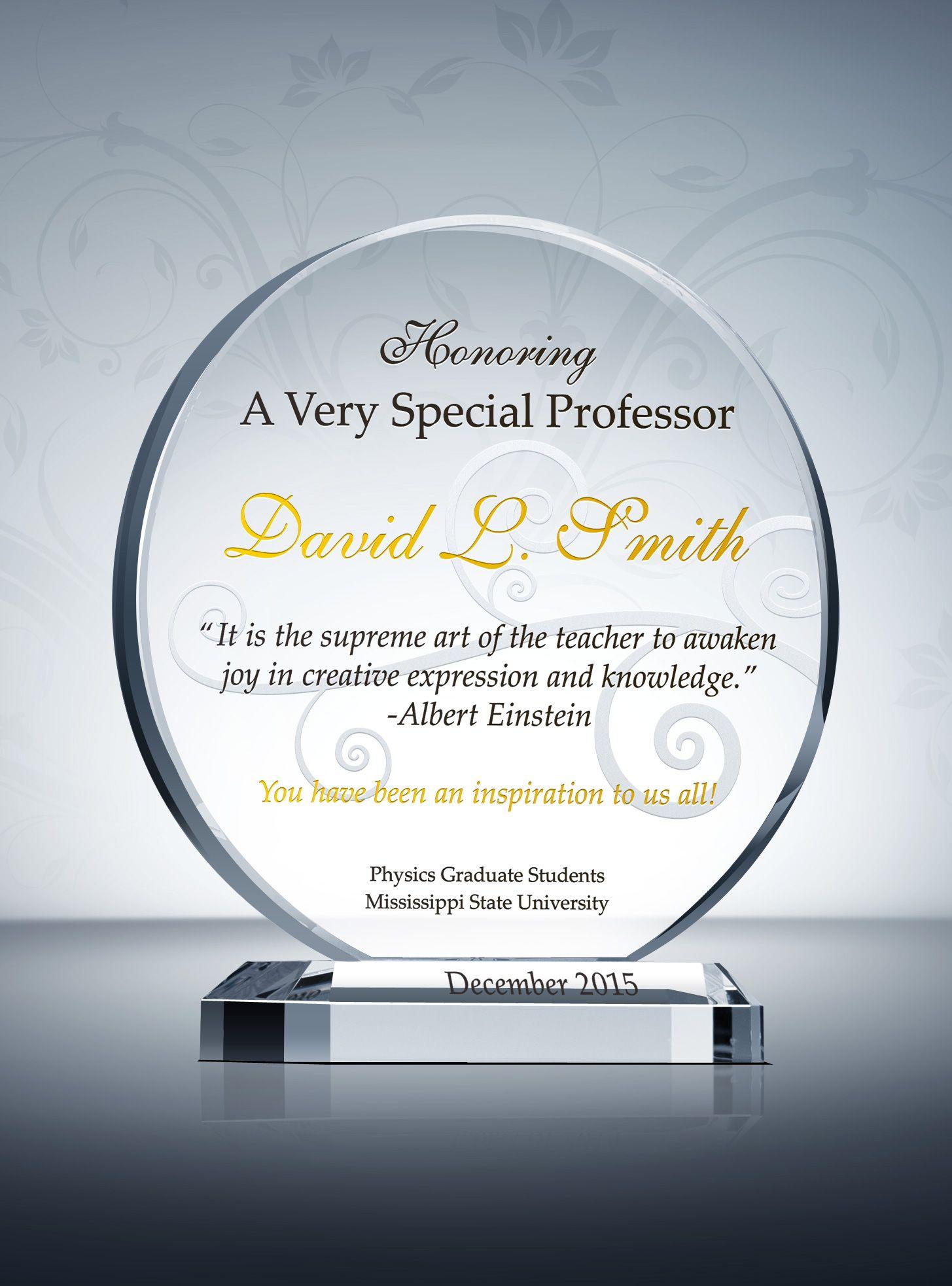 Appreciation Gift for Teachers, Educators and Professors ...