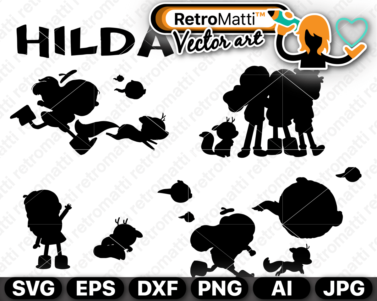 Hilda silhouettes SVG Silhouette svg, Vector