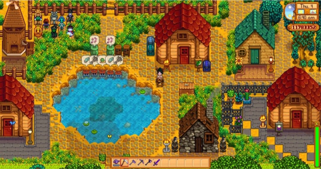 My Fish House Next To The Big Pond Stardew Valley Farm Layout Standard Farm Ladyamalthea Stardew Valley Farms Stardew Valley Farm Layout