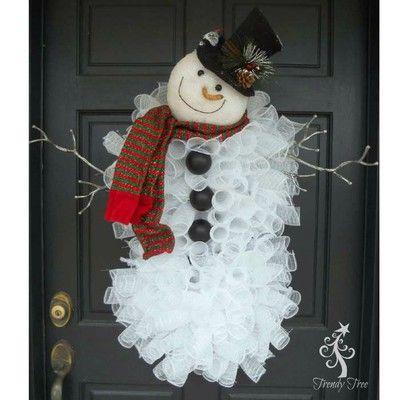 SNOWMAN WREATH CRAFT KIT MAKES 2