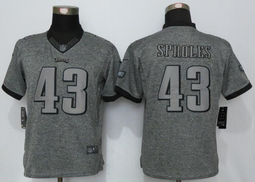 37b971e52 Womens Philadelphia Eagles 43 Sproles Gray Stitched Gridiron Gray New Nike  Limited Jerseys