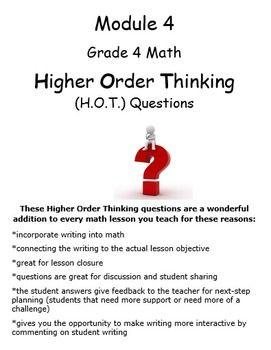 Grade 4 Math Module 4 Higher Order Thinking (HOT) Questions