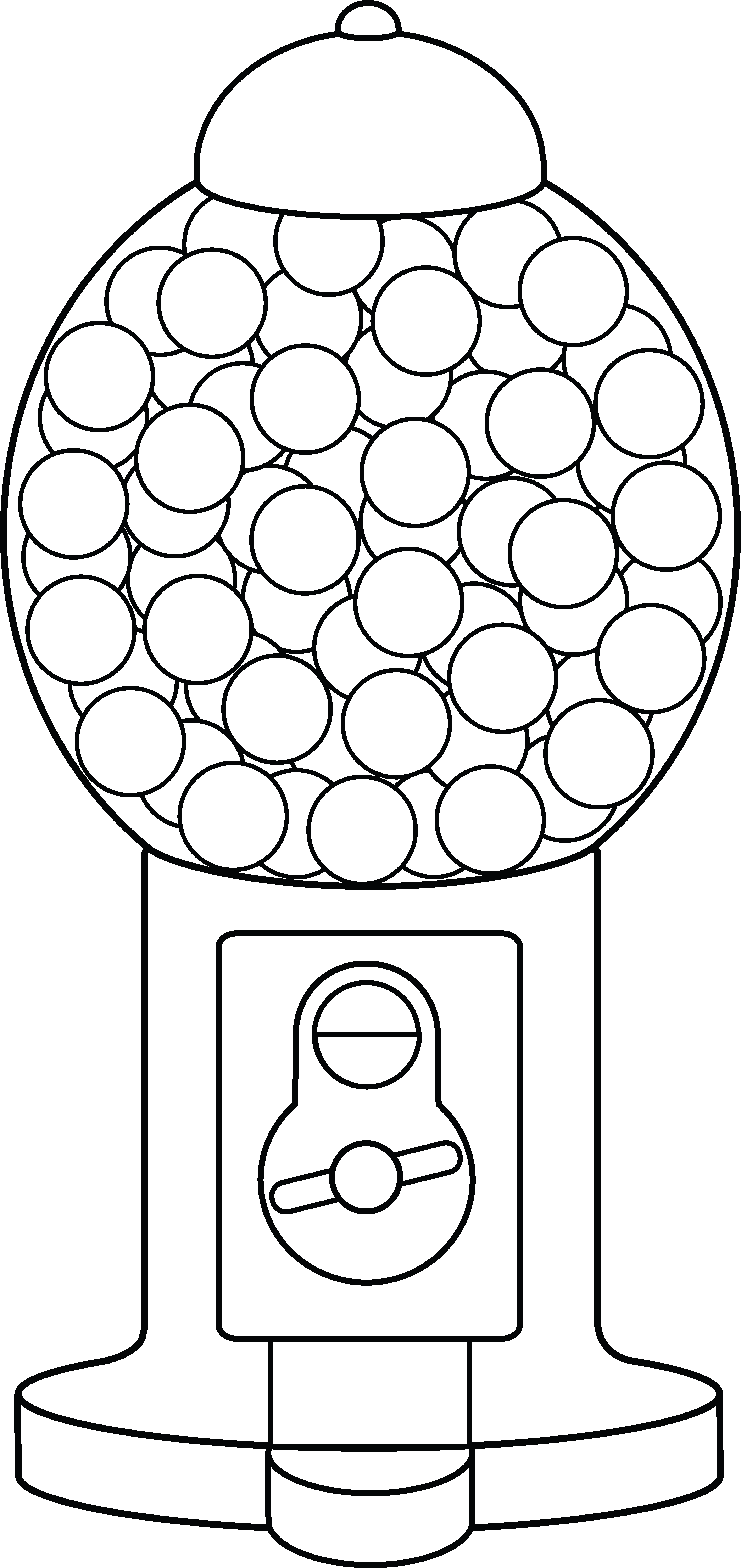 Free coloring page gumball machine - Coloring Sheets Gumball Machine Line Art
