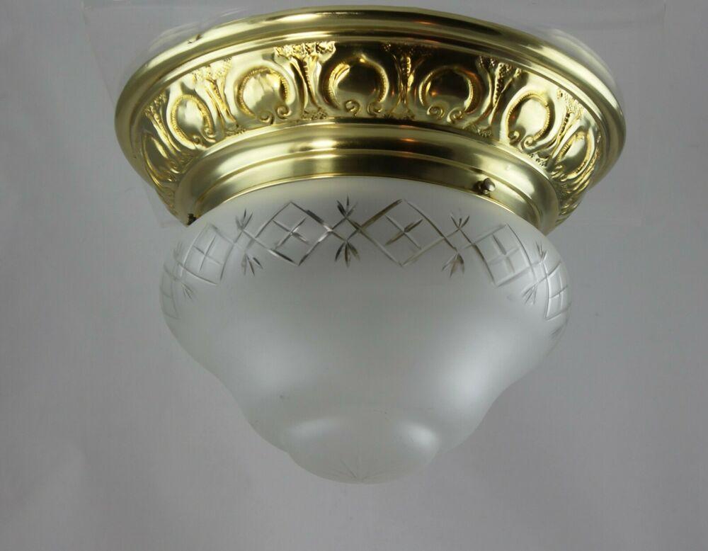 Deckenlampe Jugendstil Plafoniere : Traumhafte lampe messing original jugendstil plafoniere