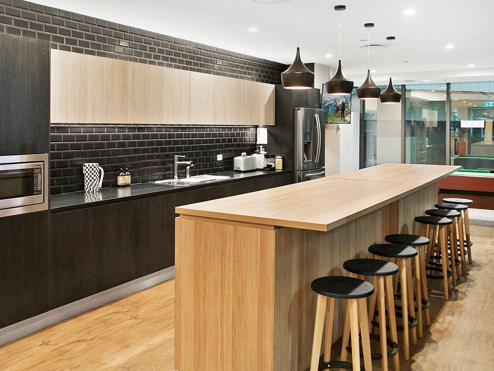Polytec natural oak ravine and black wenge ravine for Wenge kitchen designs