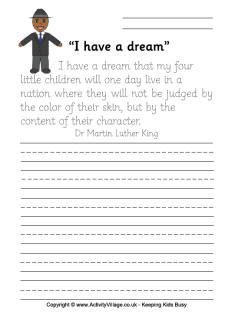 mlk copywork worksheet mlk day martin luther king martin luther king day homeschool. Black Bedroom Furniture Sets. Home Design Ideas