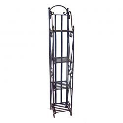 This Narrow Tuscan Scrolling Wrought Iron Etagere Features A