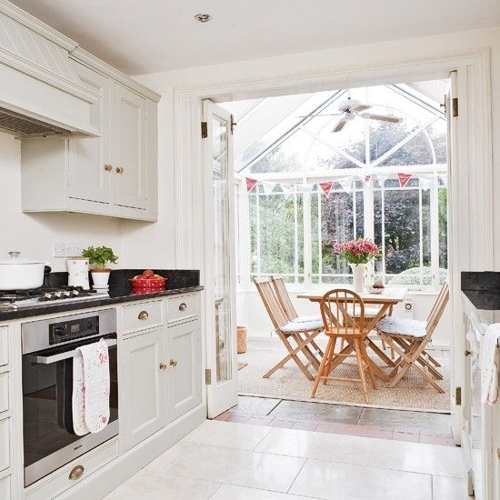 Open-plan Kitchen And Conservatory