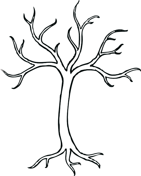 bare apple tree clipart. coloring bare tree clip art - vector online, royalty free . apple clipart
