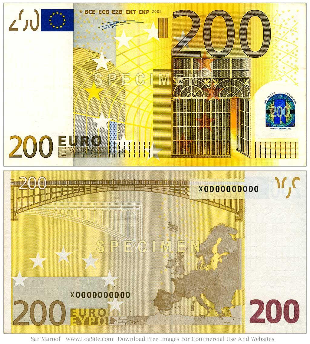 200 Euro bill Fotos de dinheiro, Ideias de viagem, Moedas
