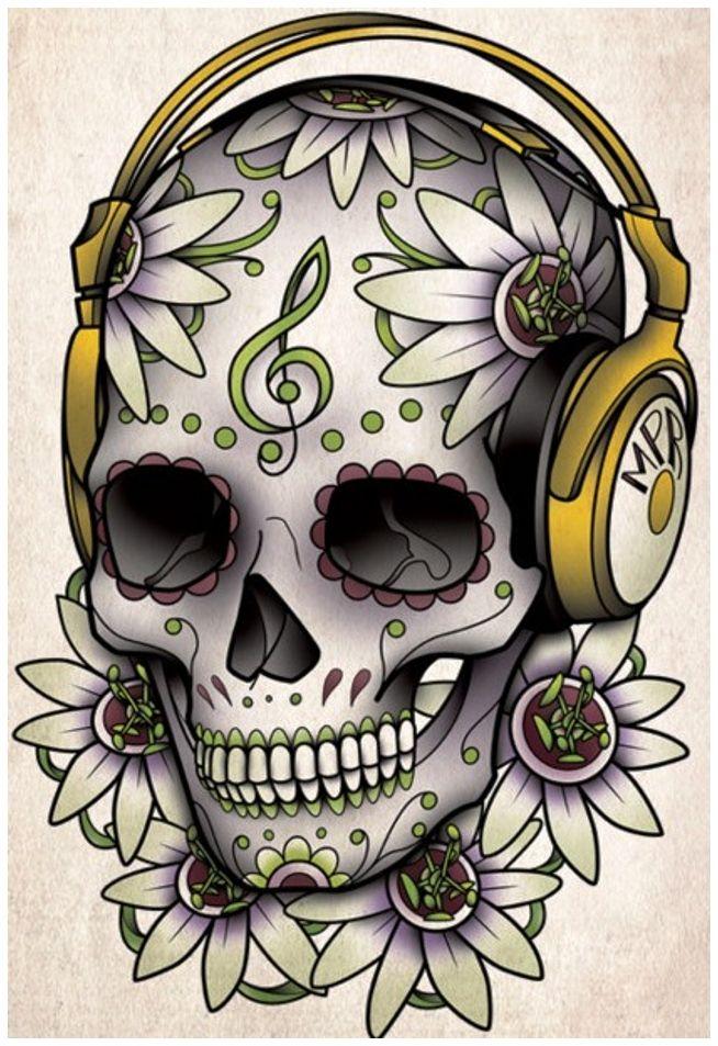 popular tattoo design sugar skull tattoo designs