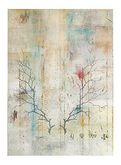 """""""Winters Branch"""" Oil/Mixed Media by Mark Bettis on Paper"""