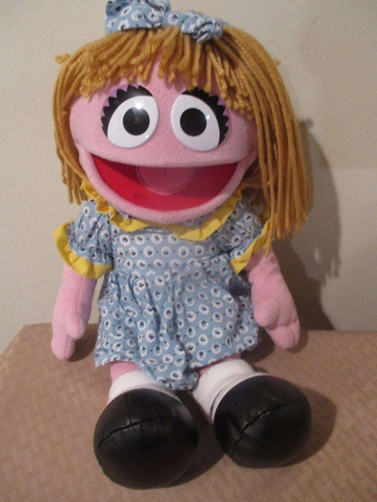 Sesame Street Prairie Dawn Muppet Plush Doll From Sesame