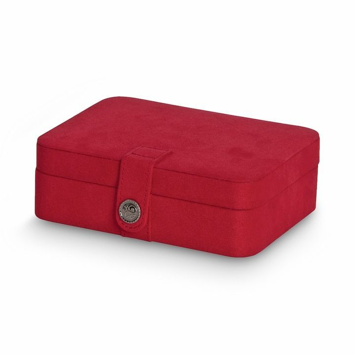Kohls Jewelry Box Magnificent Mele & Co Plush Fabric Travel Jewelry Box Red  Travel Jewelry Box
