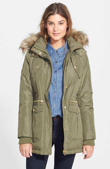 61d13178a Free shipping and returns on Sam Edelman Faux Fur Trim Down   Feather  Anorak (Online Only) at Nordstrom.com. The adventure-bound anorak from  wintry Northern ...